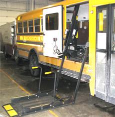 school bus wheelchair lift